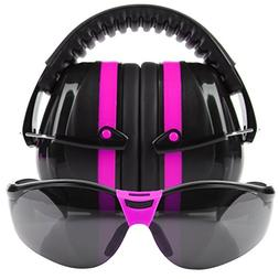 Tradesmart Pink Ear Muffs & Outdoor Tinted Eye Protection fo