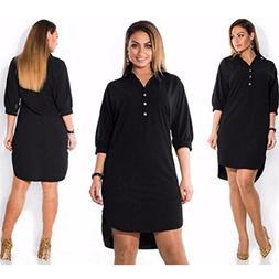 TAORE Women Plus Size Summer Dress Three Quarter Sleeve Mini