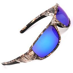 MOTELAN Polarized Camouflage Sunglasses for Men's Fishing Hu
