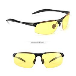 SOXICK HD Polarized Night Driving Glasses Anti Glare Safety