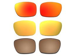 3 Pairs Polarized Replacement Sunglasses Lenses for Oakley H