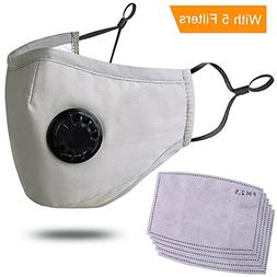 Pollution Mask Adult Anti PM 2.5 Pollen Dust Mask Washable A