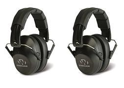 Walker's Game Ear Low Profile Folding Muff, Black BUNDLED 2P