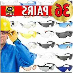 Protective Glasses Safety Glasses 36 PAIRS ANZI Z87 Protecti