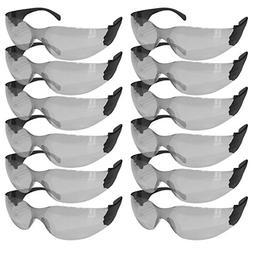 SAFE HANDLER Protective Safety Glasses, Grey Polycarbonate I
