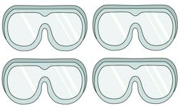 Protective Safety Goggles Safe Lab Glasses Eyewear, Ships fr
