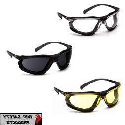 PYRAMEX PROXIMITY SAFETY GLASSES ANTI-FOG LENSES FOAM PADDED