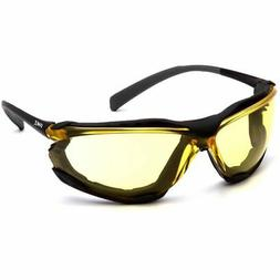 Pyramex Proximity Safety Glasses Foam Padded Black Frame Amb