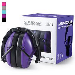Purple Ear Muffs Hearing Protection Gun Shooting Range Loud