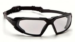 Pyramex Highlander Safety Eyewear, Black Frame/Clear Anti-Fo