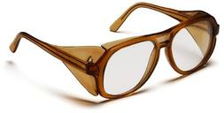 Pyramex Monitor Safety Glasses, Caramel Frame with Clear Len