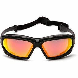 Pyramex SBG5055DT Highlandr Safety Glasses Blk-Gry Red Mirr