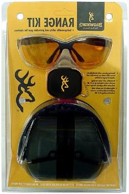 Browning Range Kit Shooting Glasses, Foam Earplugs, and Adju