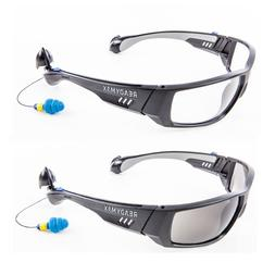 ReadyMax Fashion Outdoor Safety Glasses with Ear plugs Eye &