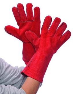Bulk Buys Red Leather Welding Gloves - Case of 36