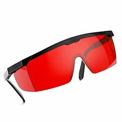 Red Safety Glasses Eye Protection for Green and Blue Lasers
