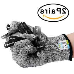 REFAGO Cut Resistant Gloves 2 Pairs for Kitchen Working Kevl