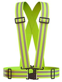 NKTM Reflective Vest Safety Gear HIGH VISIBILITY GREAT FIT F