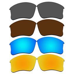 4 Pair Replacement Lenses for Oakley Flak Jacket XLJ Sunglas