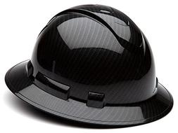 Pyramex Ridgeline Hard Hat Shiny Graphite Pattern Black Full