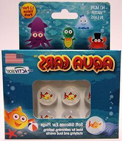 Aqua Ears® Kids Rocket Clown Fish Soft Silicone Earplugs 12