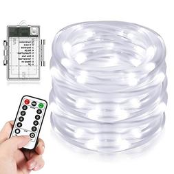 LED Rope Lights, Beiwas Battery Operated Waterproof 33ft Str