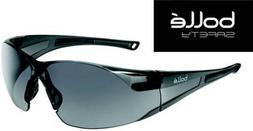 Bolle Rush 40071 Safety Glasses Smoke Gray Lens Black Frame
