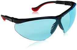 Uvex S3312X Genesis XC Safety Eyewear, Black Frame, SCT-Blue