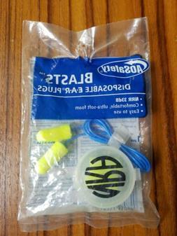 Aearo Safety Ear Blasts Disposable Ear Plugs NRR 33db Displa