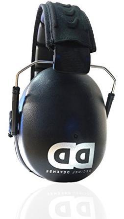 Professional Safety Ear Muffs by Decibel Defense - 37dB NRR