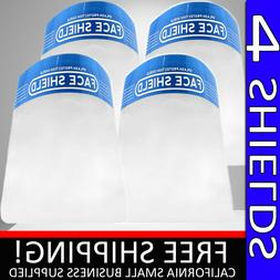 SAFETY FACE SHIELD CLEAR 4 PC PROOF ANTI FOG PROTECTOR WORK