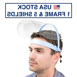 Safety Full Face Shield Clear Flip-Up Visor 1 Pack 5 SHIELDS
