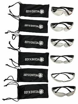 6-Pack Active Kyds Safety Glasses for Kids Construction Cost