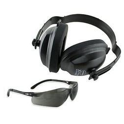 TITUS Safety Glasses & Earmuff Combo Black Oynx B1/G3 Z87+ E
