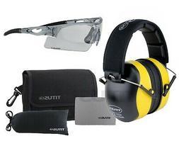 TITUS Low-Profile 34 Decibel NRR Safety Earmuffs Christensen Safety Equipment B2T No Pouch, Black