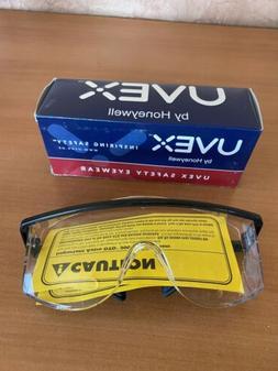 UVEX Safety Glasses Astro OTG 3001 Black Frame Clear UD Lens