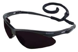 Jackson Nemesis Safety Glasses Black Frame - Smoke Lens Anti