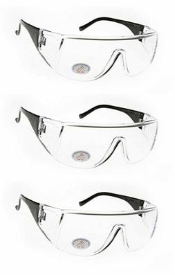 Safety Glasses Clear PPE Impact Resistant Rectangle Goggle S