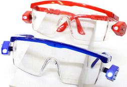 Safety Glasses Equipped With Dual Swivel Led Lights