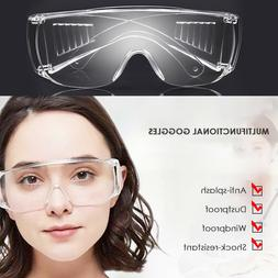 Safety Glasses Goggles Clear Lens Eyewear Eye Protection Dus