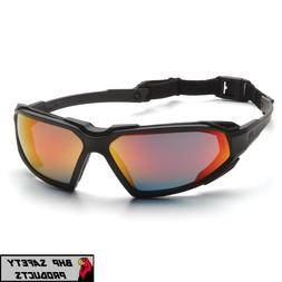 PYRAMEX HIGHLANDER SAFETY GLASSES SKY RED MIRROR ANTI-FOG SU
