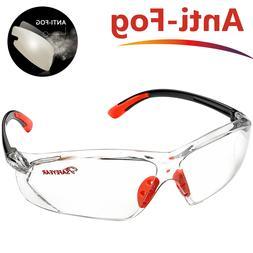 Safeyear Safety Glasses LED Bundle Clear Anti-fog Anti-scrat