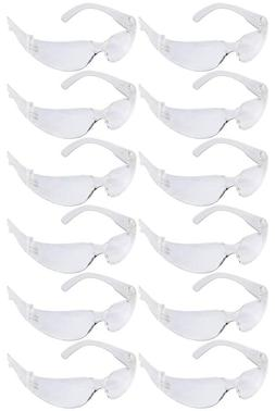 Safety Glasses One Size Clear Lens For Home Projects Lab Con