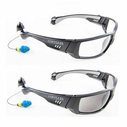 ReadyMax Safety Glasses with Ear plugs Eye & Hearing Protect