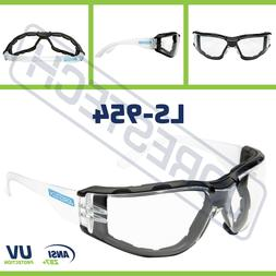 Safety Goggles Clear Anti Fog Scratch Resistant UV Z87+ Glas