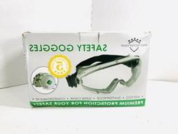 Safety Goggles Fits Over Prescription Glasses Clear Anti Fog