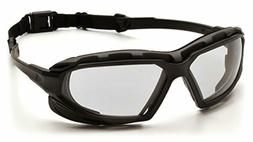Pyramex Safety Highlander XP Eyewear, Black-Gray Frame/Clear