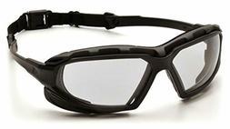 Pyramex Safety Highlander XP Eyewear, Black-Gray Frame/Clear