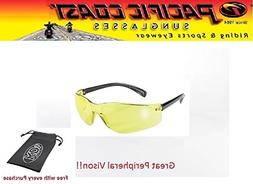 Safety Sunglasses Mens Womens YELLOW ANSI Z80.3 KDS Boys Gla