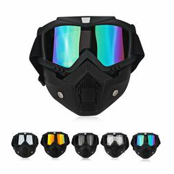 Safety Lab Work Goggles Detachable Protective Full Face Shie